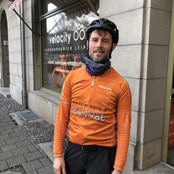 Fahrradkurier Jens von Velocity